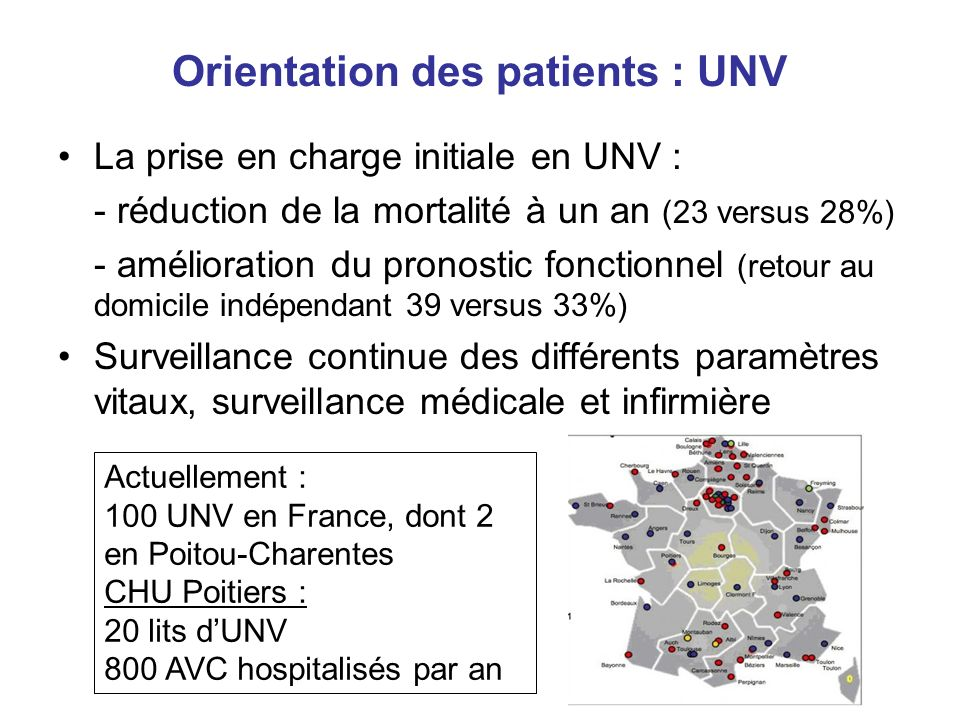 Orientation des patients : UNV