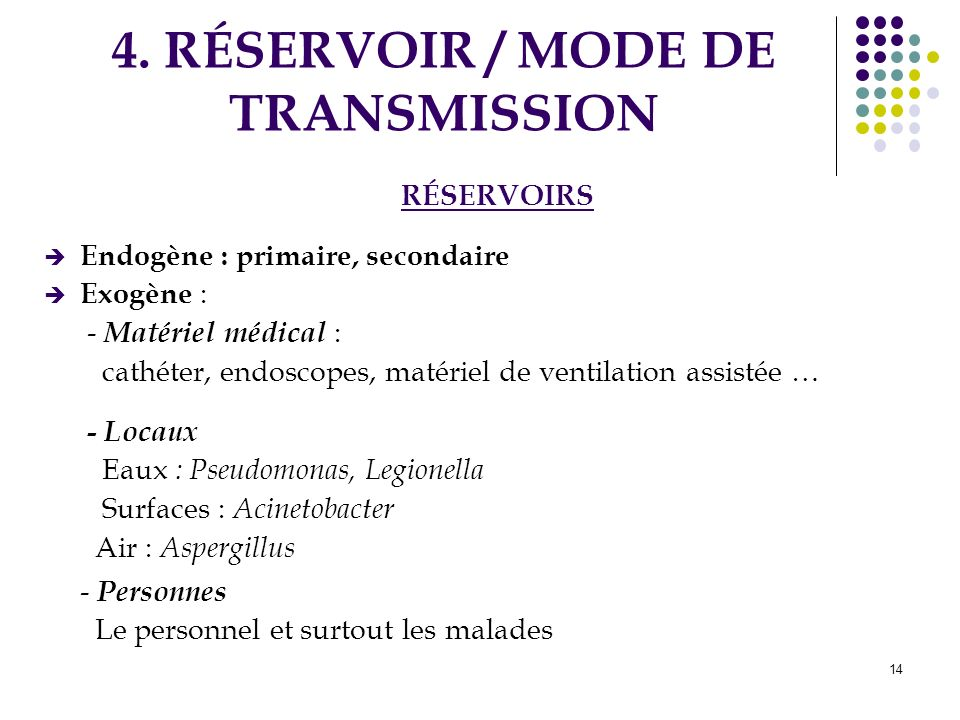 4. RÉSERVOIR / MODE DE TRANSMISSION