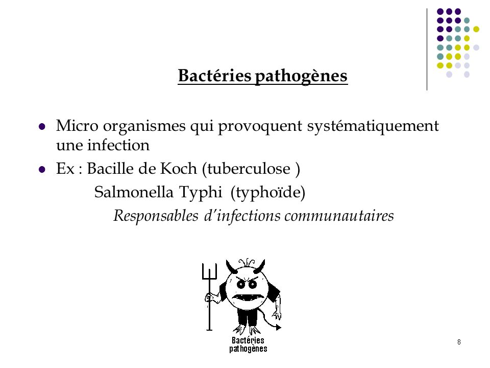 Responsables d'infections communautaires