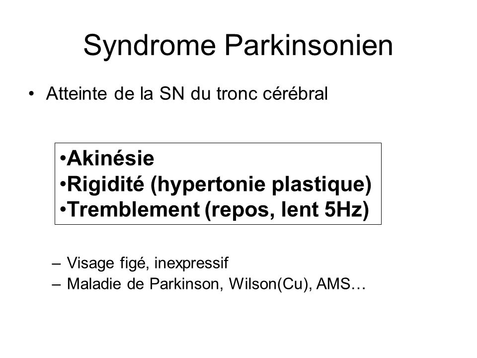 Syndrome Parkinsonien