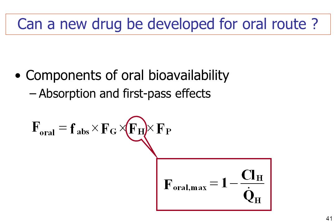 Can a new drug be developed for oral route
