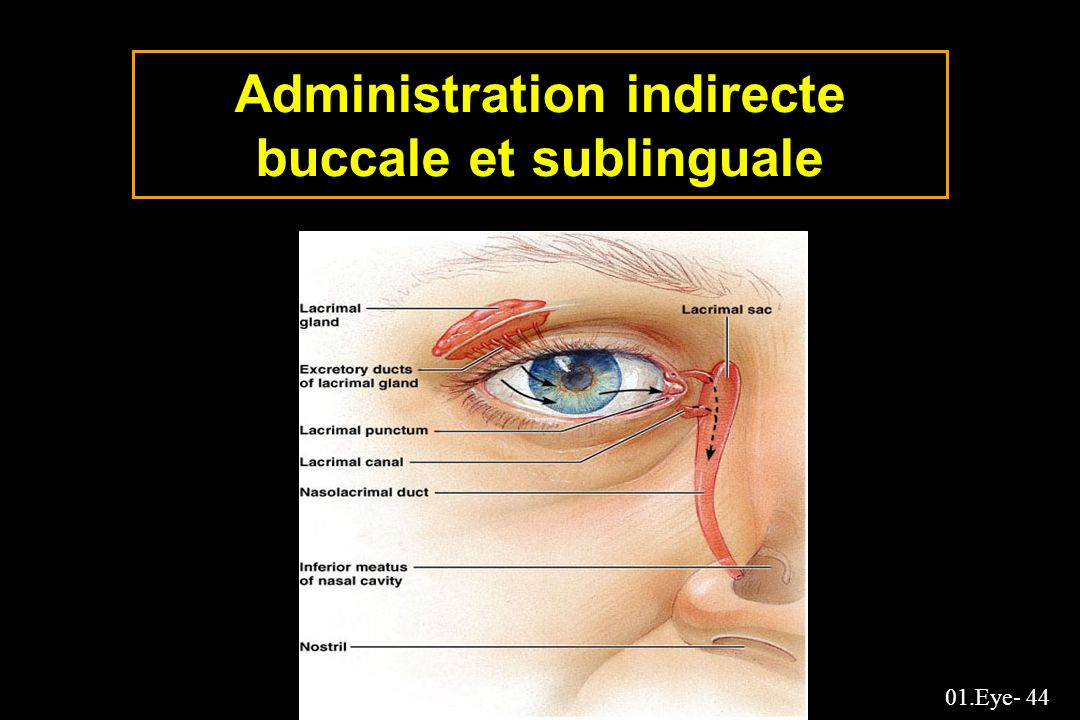 Administration indirecte buccale et sublinguale
