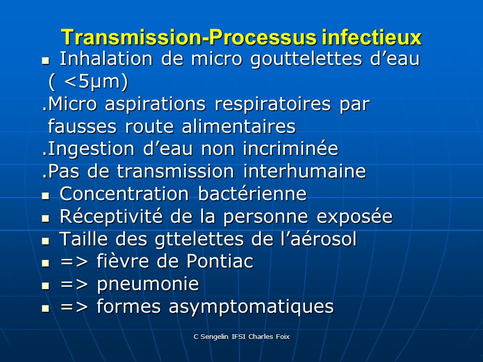 Transmission-Processus infectieux