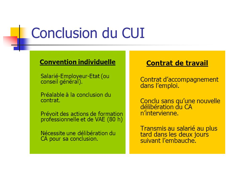 Convention individuelle
