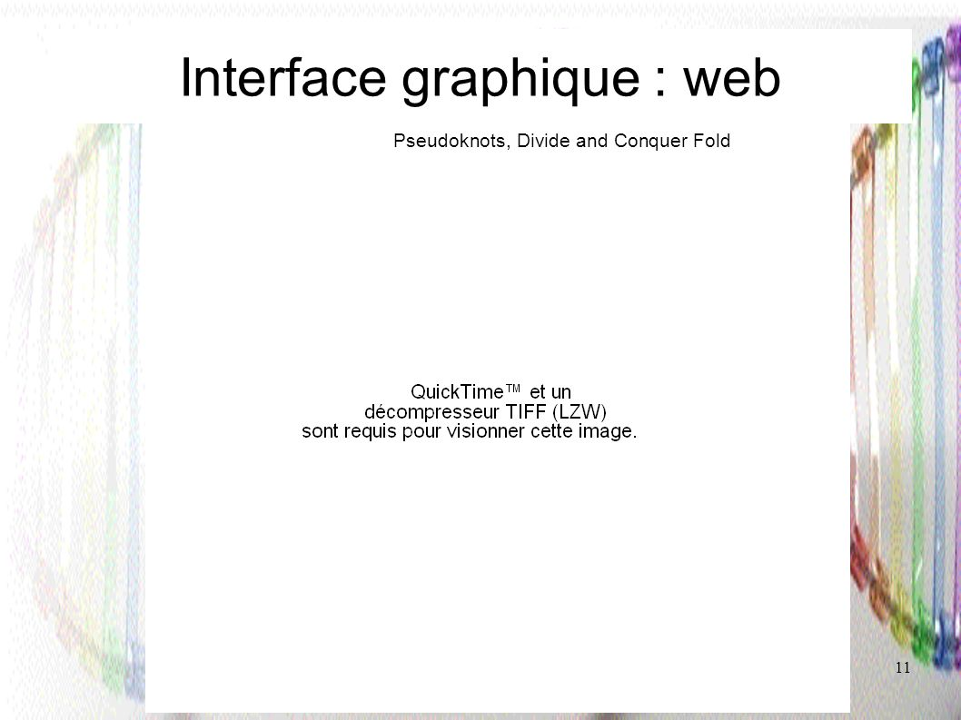 Interface graphique : web