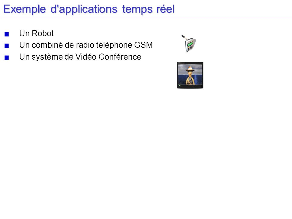 Exemple d applications temps réel