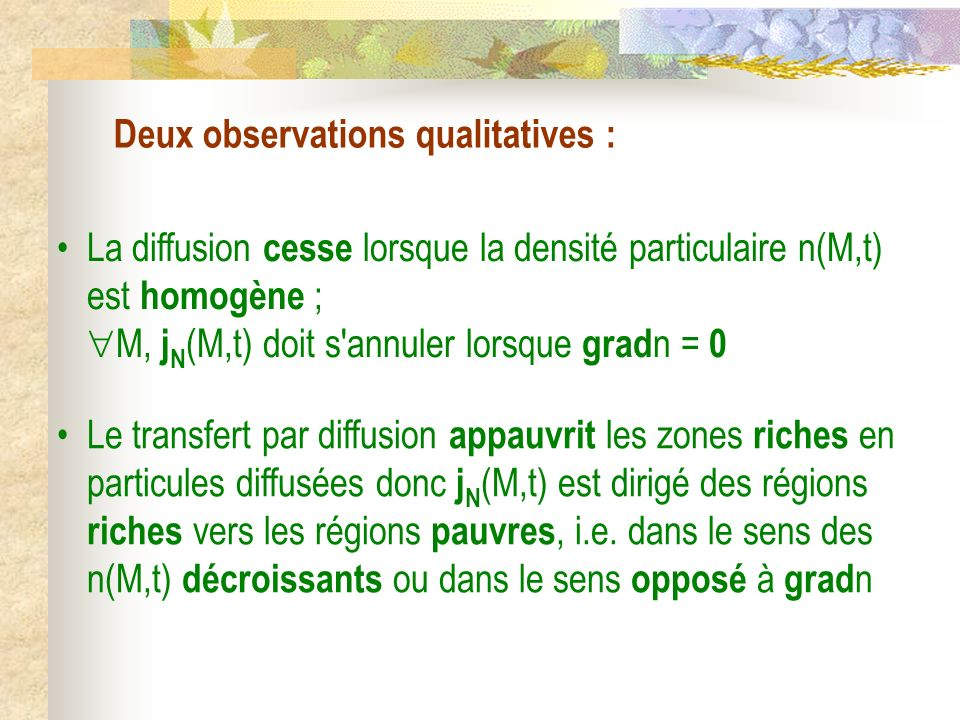 Deux observations qualitatives :