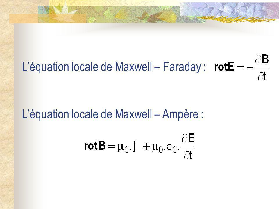L'équation locale de Maxwell – Faraday :