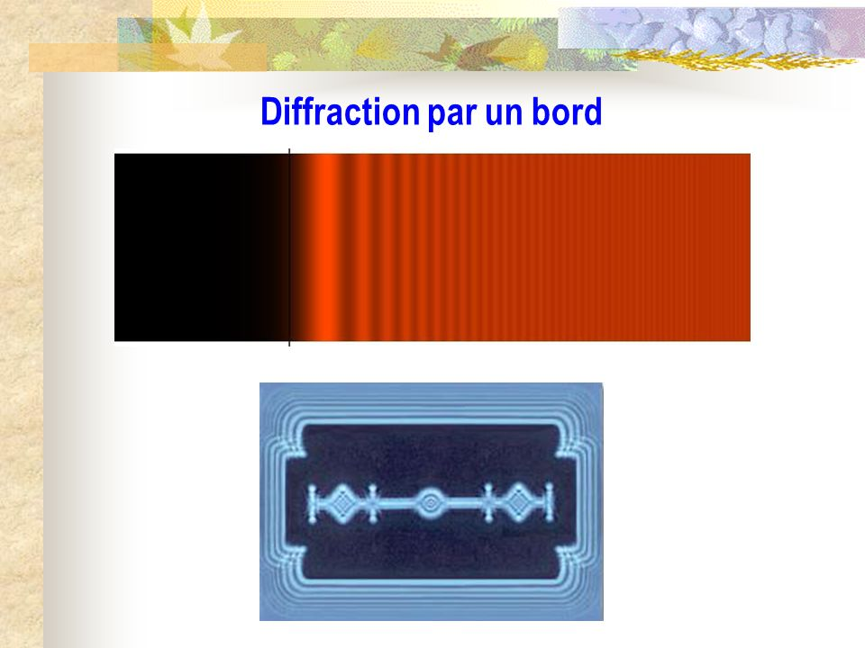 Diffraction par un bord