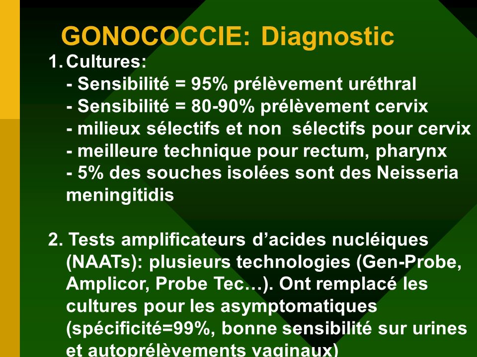 GONOCOCCIE: Diagnostic