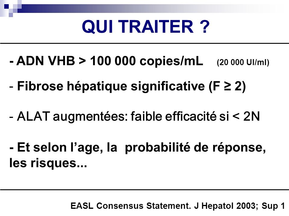 QUI TRAITER - ADN VHB > 100 000 copies/mL (20 000 UI/ml)