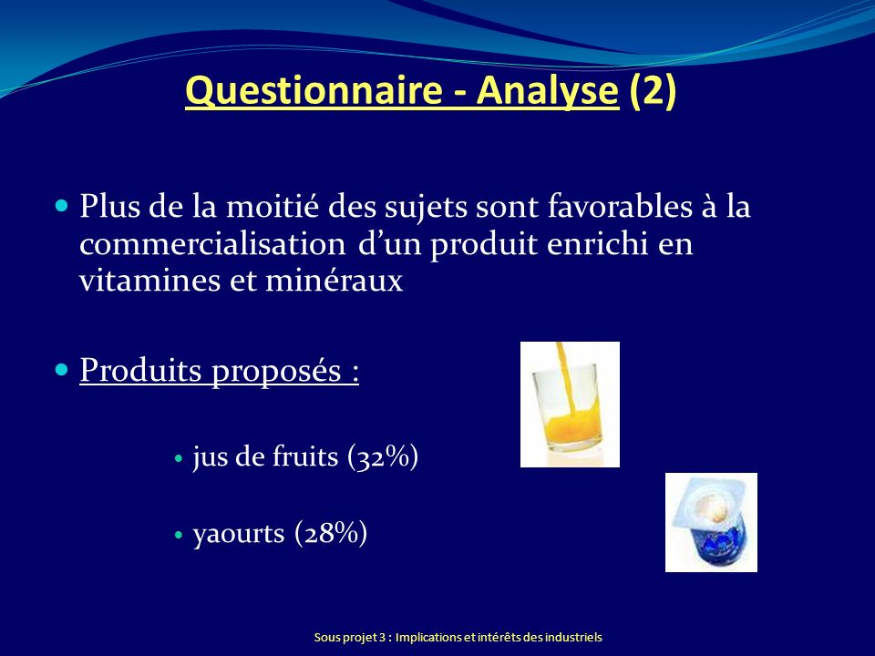 Questionnaire - Analyse (2)
