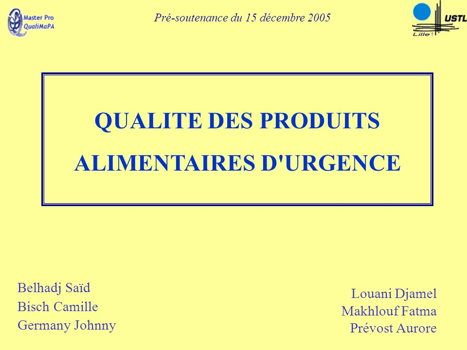 ALIMENTAIRES D URGENCE