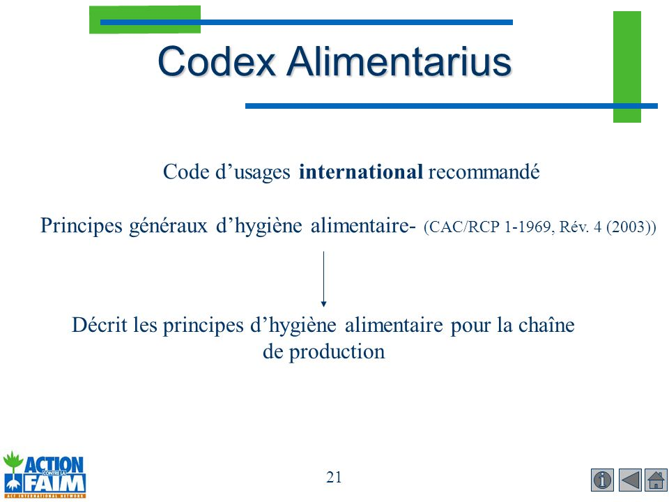 Code d'usages international recommandé