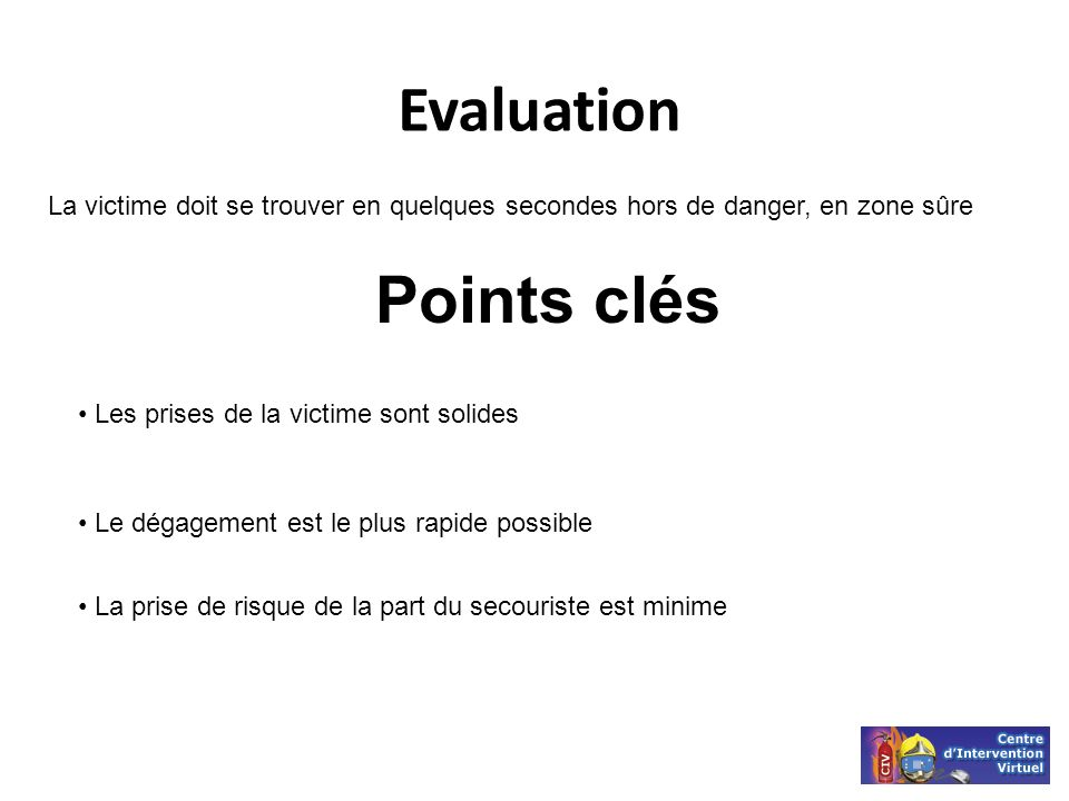 Evaluation Points clés