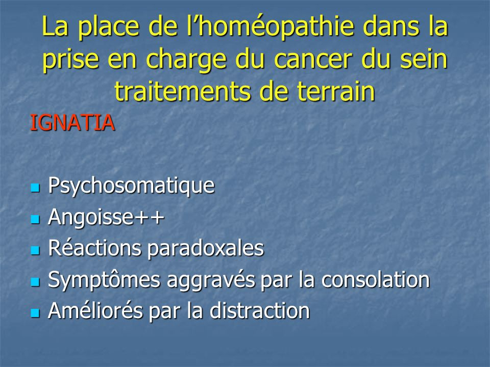 la place de l homeopathie les soins de support en canc rologie ppt t l charger. Black Bedroom Furniture Sets. Home Design Ideas