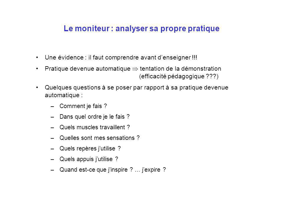 Le moniteur : analyser sa propre pratique