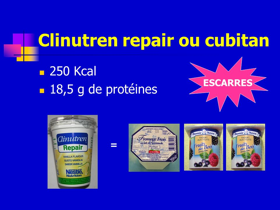 Clinutren repair ou cubitan
