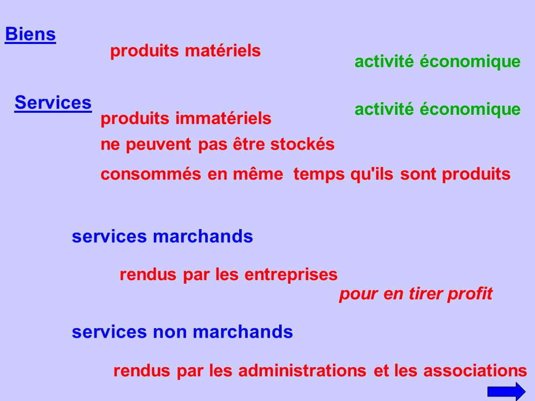 services non marchands