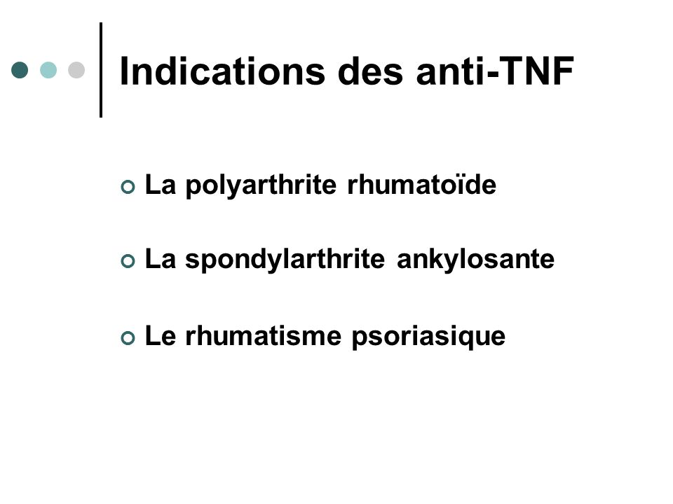 Indications des anti-TNF