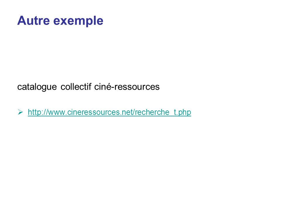 Autre exemple catalogue collectif ciné-ressources