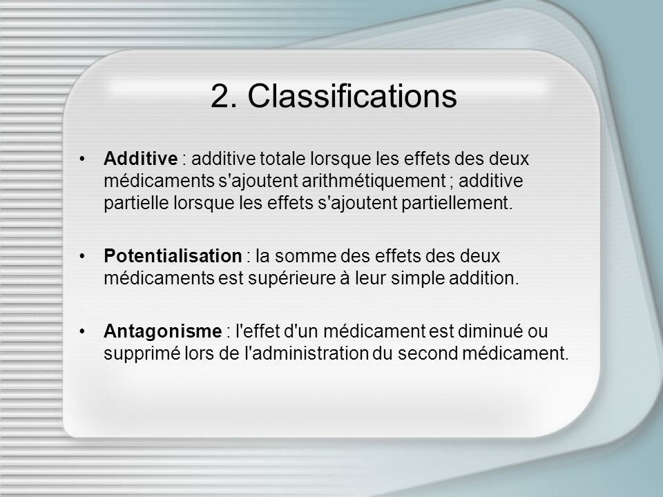 2. Classifications