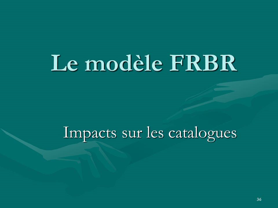Impacts sur les catalogues
