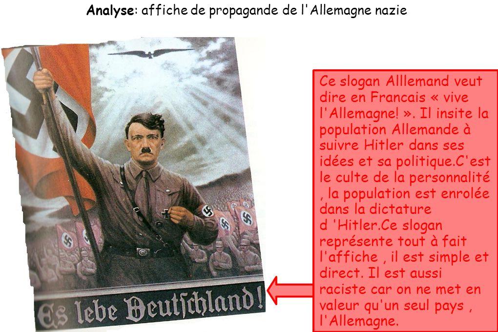 analyse affiche de propagande de l 39 allemagne nazie ppt video online t l charger. Black Bedroom Furniture Sets. Home Design Ideas
