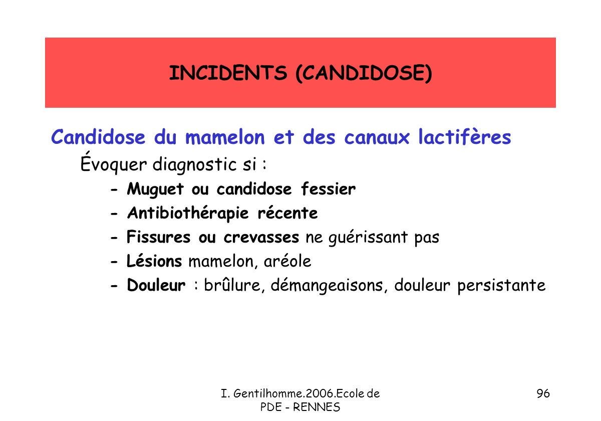 INCIDENTS (CANDIDOSE)