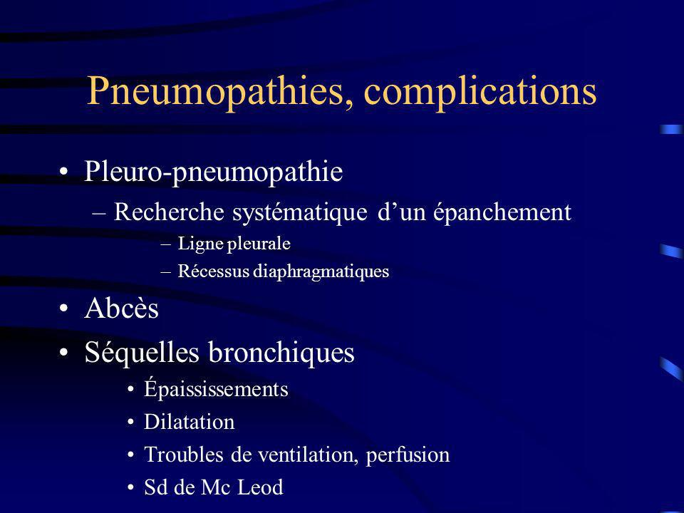 Pneumopathies, complications