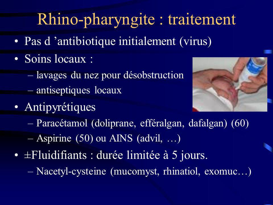 Rhino-pharyngite : traitement