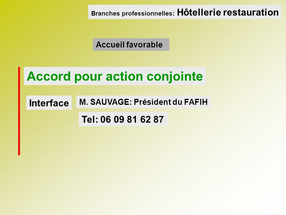Accord pour action conjointe