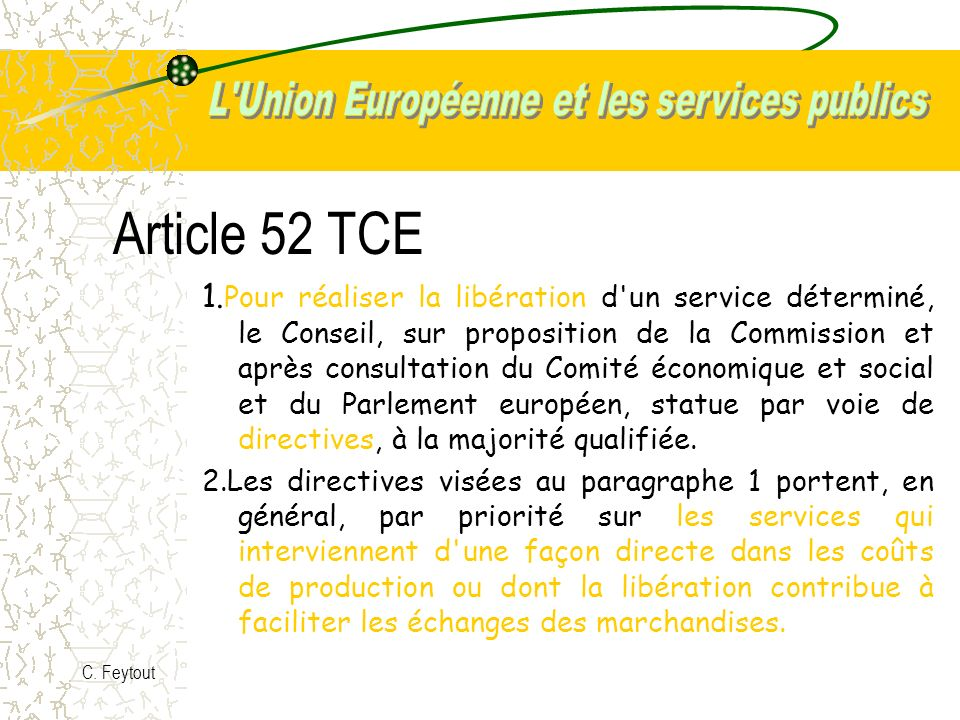 Article 52 TCE