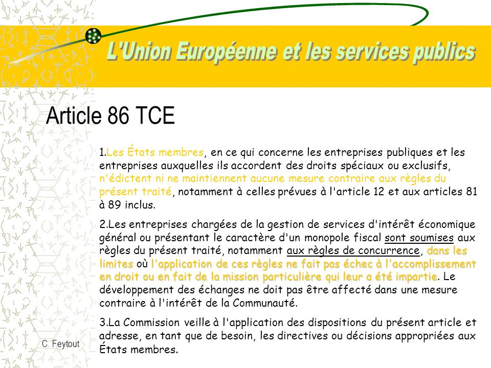 Article 86 TCE