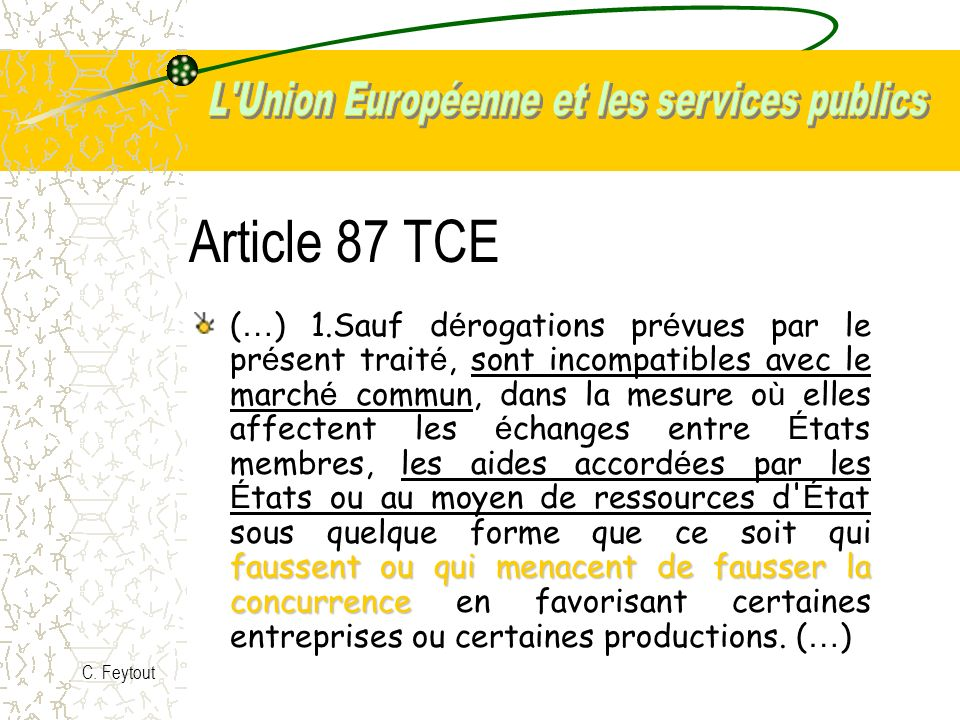 Article 87 TCE