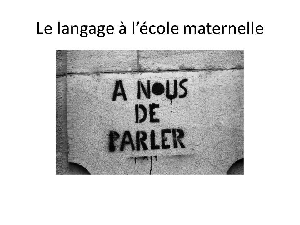 langage école maternelle