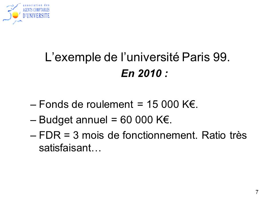 L'exemple de l'université Paris 99.