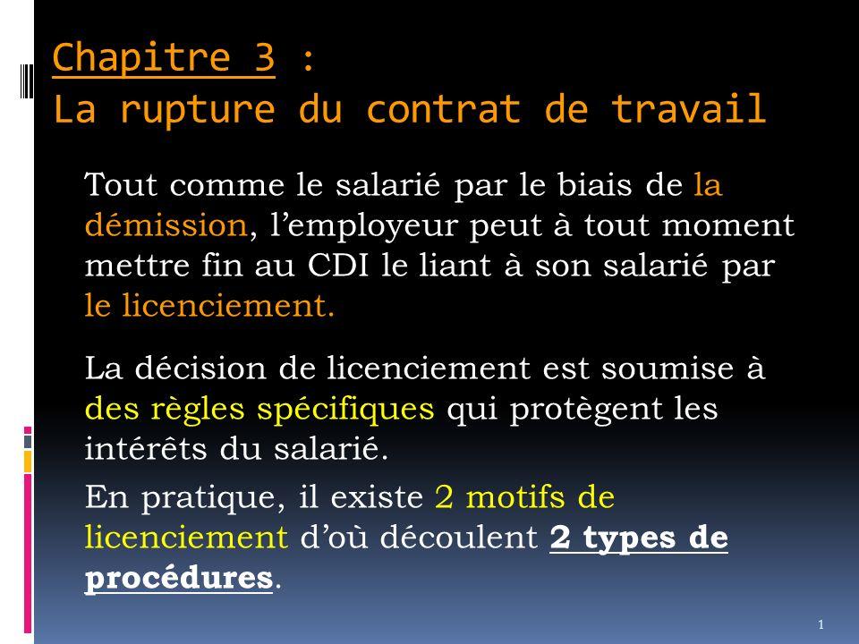 7f4f3df74a1 Chapitre 3   La rupture du contrat de travail - ppt video online ...