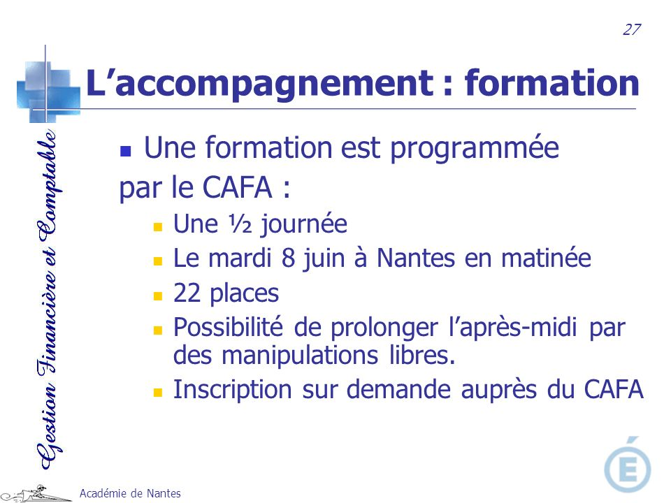 L'accompagnement : formation