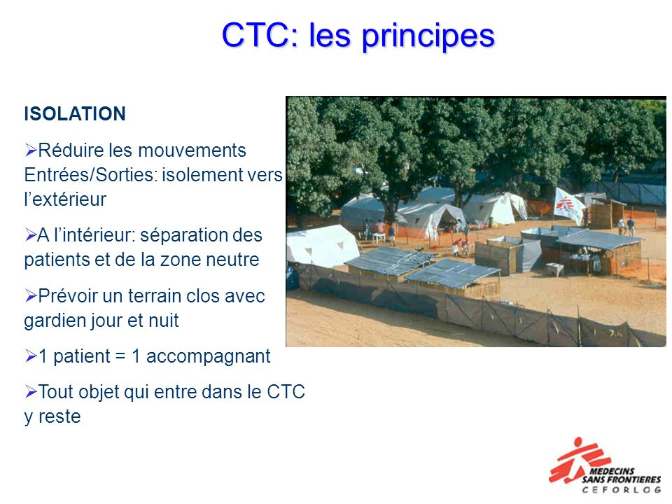 CTC: les principes ISOLATION
