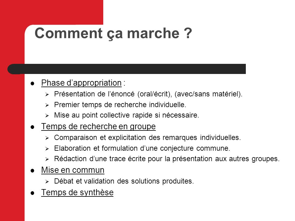 Comment ça marche Phase d'appropriation :