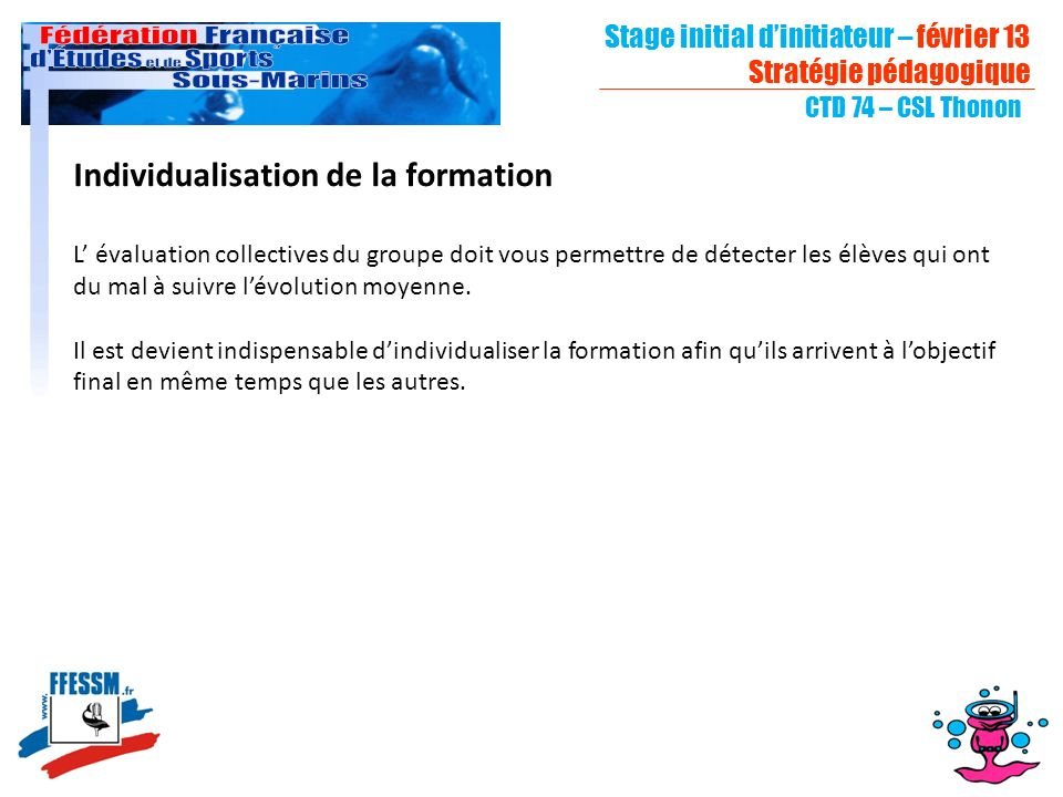 Individualisation de la formation