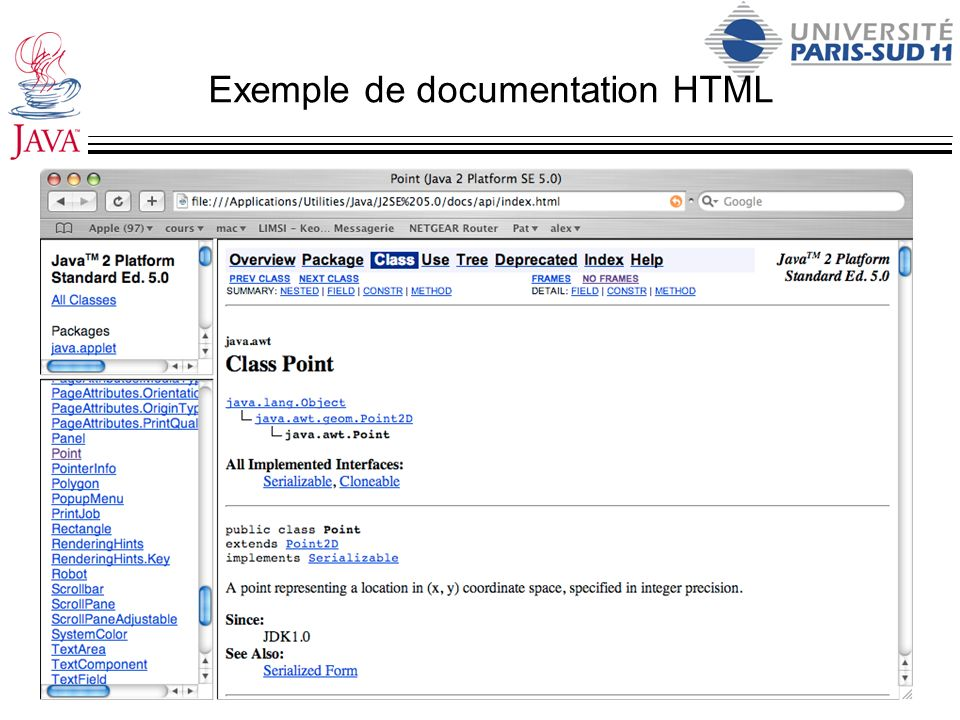 Exemple de documentation HTML