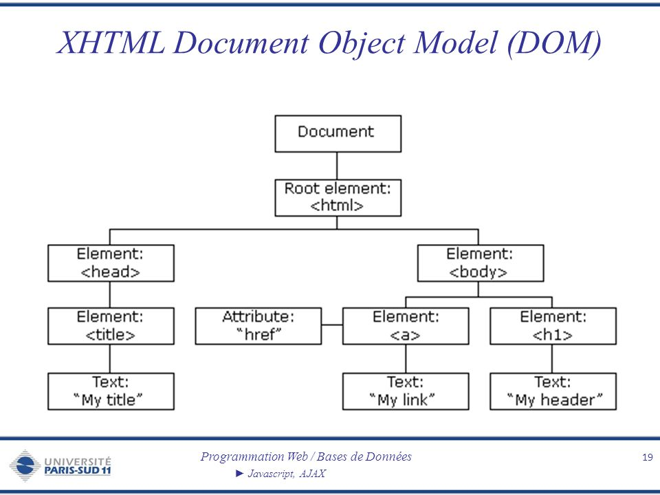XHTML Document Object Model (DOM)
