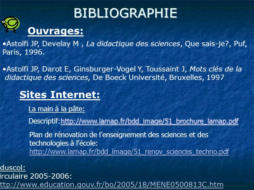 BIBLIOGRAPHIE Ouvrages: Sites Internet: