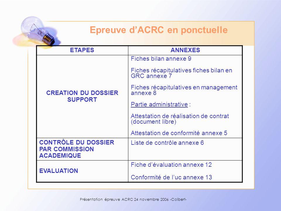 Présentation épreuve ACRC 24 novembre Colbert- - ppt télécharger Epreuve d'ACRC en ponctuelle