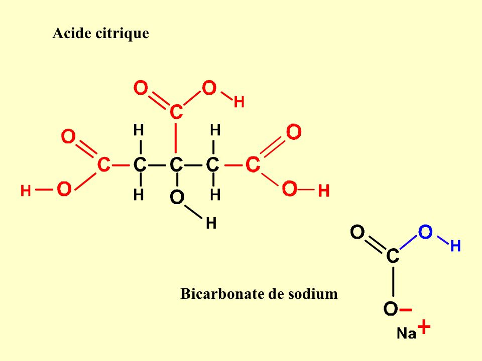 Acide citrique Bicarbonate de sodium