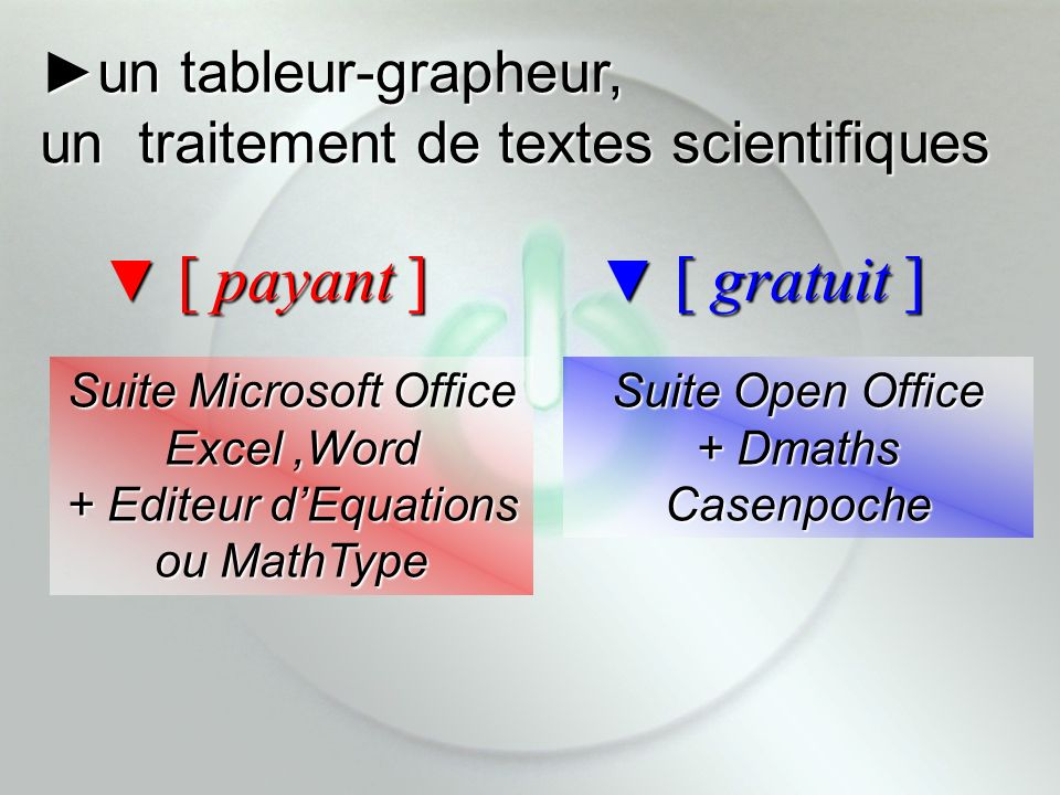 Suite Microsoft Office