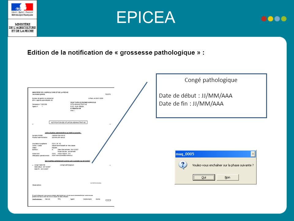 EPICEA Edition de la notification de « grossesse pathologique » :
