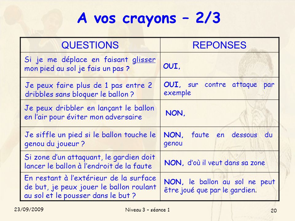 A vos crayons – 2/3 QUESTIONS REPONSES